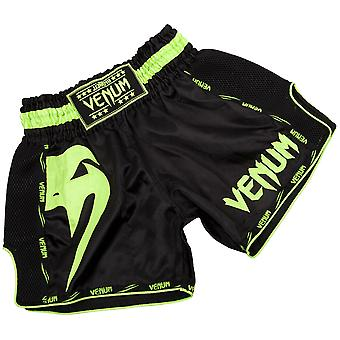 Venum Giant lichtgewicht Muay Thai Shorts - zwart/Neo geel
