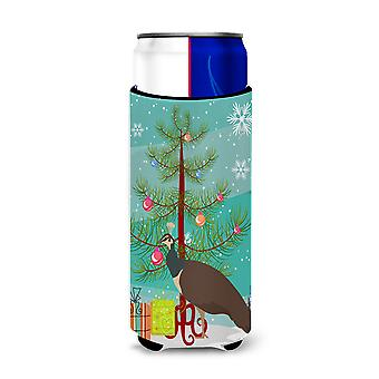 Indian Peahen Peafowl Christmas Michelob Ultra Hugger for slim cans