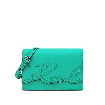 Karl Lagerfeld Signore 71KW3080GREEN verde in pelle borsa a tracolla