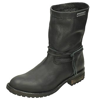 Ladies Harley Davidson Mid Calf Boot Silicia D83972 - Black Leather - UK Size 5 - EU Size 38 - US Size 7