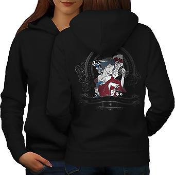 Girl Japan Woman Women BlackHoodie Back | Wellcoda