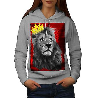Royal Lion Unito donne GreyHoodie | Wellcoda