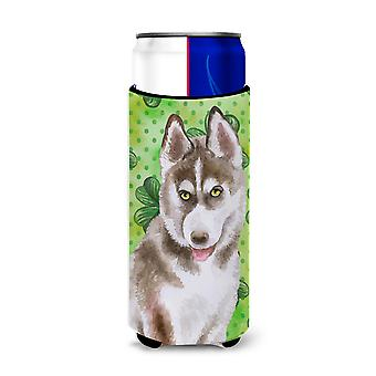 Siberian Husky grau St Patrick's Michelob Ultra Hugger für schlanke Dosen