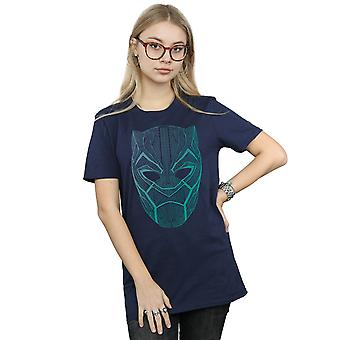 Marvel Women's Black Panther Tribal Mask Boyfriend Fit T-Shirt