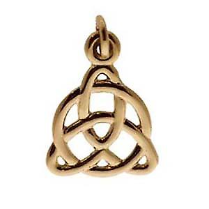 9ct Gold 19x18mm Celtic Trinity knot design Pendant