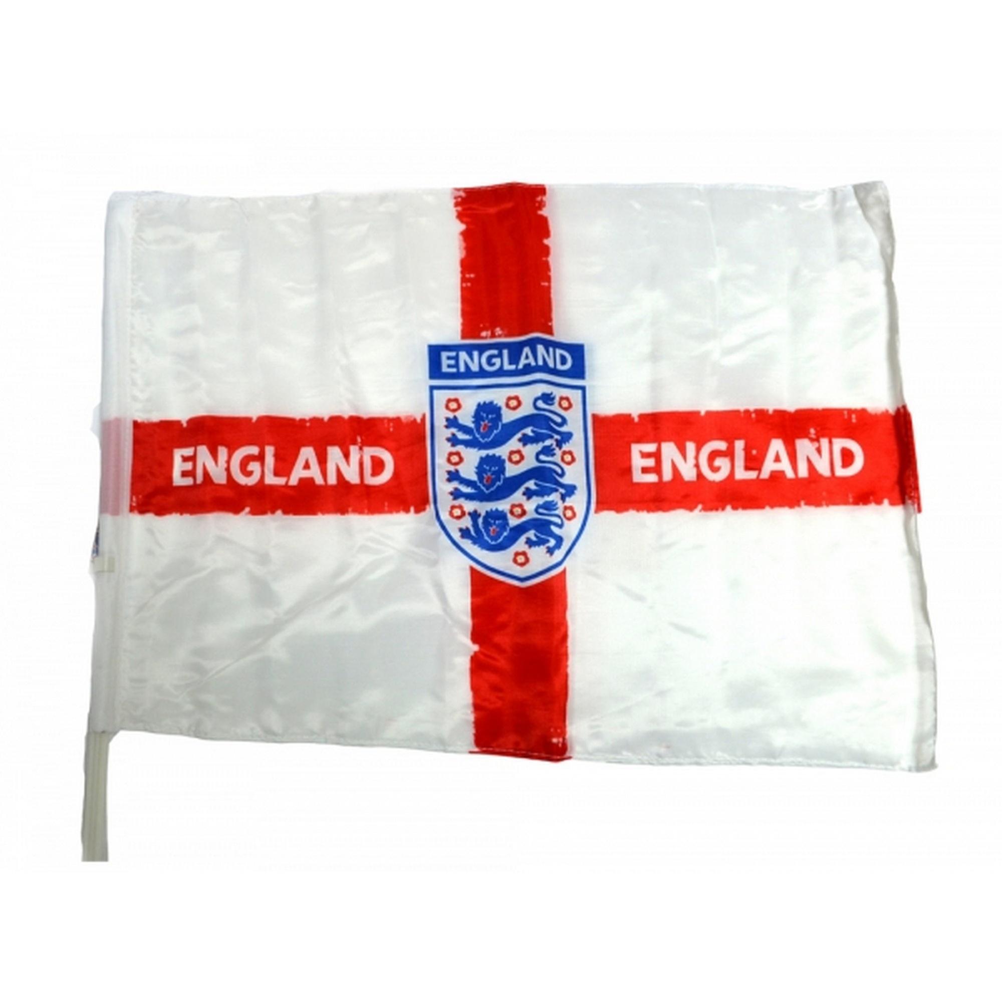 England Official Football Distressed Crest Car Flag