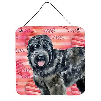 Black Russian Terrier Love Wall or Door Hanging Prints