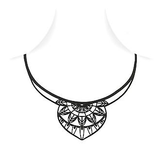Necklace India in Silicone black tattoo effect