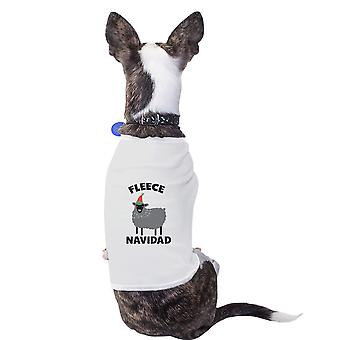 Fleece Navidad Cotton Pet Shirt White Funny Holiday Gifts Small Dogs Clothes