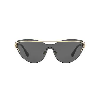 Versace V Unified Sunglasses In Pale Gold Grey