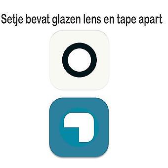 S6/S6 para Samsung cámara de lente de cristal-blanco