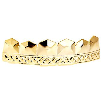 One Size Fits All Bling Grillz - CAESER TOP - Gold