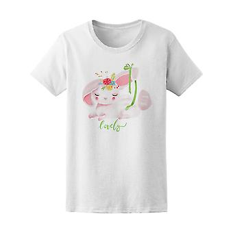 Cute Dreaming Bunny With Wreath Tee Women's -Image by Shutterstock