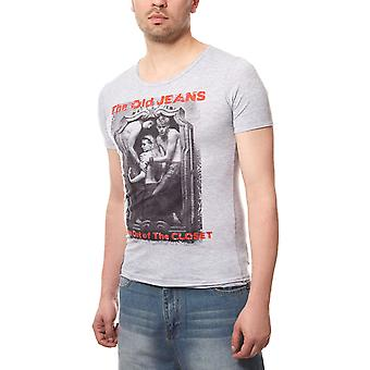 RUSTY NEAL humans mens T-Shirt grey with Figure