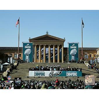 Die Philadelphia Eagles Super Bowl LII Victory Parade vor den das Philadelphia Museum of Art Donnerstag Februar 8. 2018 Photo Print