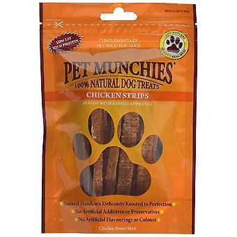 Pet Munchies naturlige hund behandler kylling strimler, 90 g (Pack af 8)