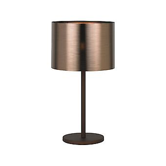 Eglo Table Lamp Light Dia: 350 Braun Kupfer Saganto 1