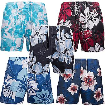 Men's swim shorts swimwear shorts Hawaii style flower print summer Schmwimmhose