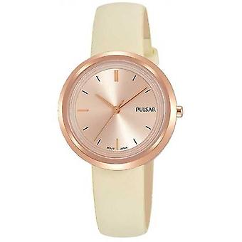 Pulsar Rose Gold Case and Dial Leather Strap PH8394X1 Watch