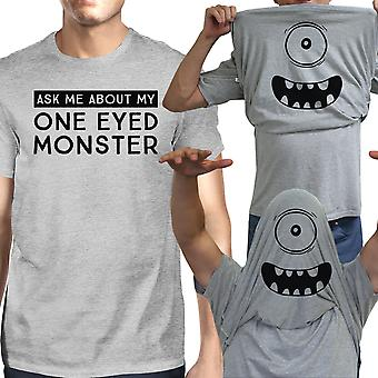 Ask Me About My One Eyed Monster Tshirt Mens White Cotton Tee Shirt
