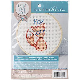 Cathy Heck Clever Fox Embroidery Kit-4