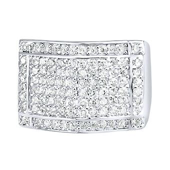 Sterling 925 Silver pave ring - PEAK