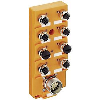 Sensor & actuator box (passive) M12 splitter + steel thread ASBS 6/LED 5-4 111