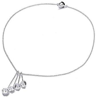 Cavendish French Lily Cluster Necklace - Silver