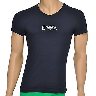 Emporio Armani Fashion Stretch Cotton V-Neck T-Shirt, Marine, X Large