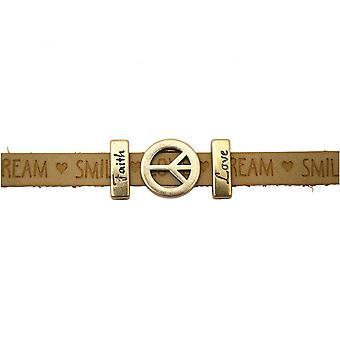 Women - bracelet - peace - peace - WISHES - Brown - sand - magnetic lock - faith - love