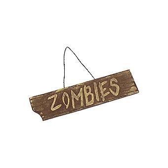 Halloween y terror cartel de zombie de Halloween