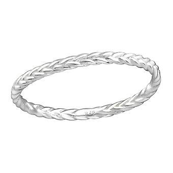 Braid - 925 Sterling Silver Plain Rings - W37191x