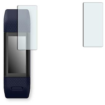 Garmin vivosmart HR + screen protector - Golebo Semimatt protector (deliberately smaller than the display, as this is arched)