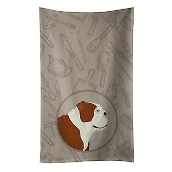 Carolines Treasures  CK2183KTWL English Bulldog In the Kitchen Kitchen Towel