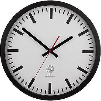 EUROTIME 56862 radio orologio da parete 40 cm nero