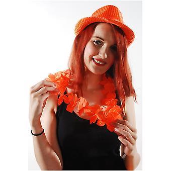 Hawai y tropical hawaiano flor guirnalda naranja