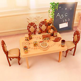 2018Roze sweetheart kitchen table set Furniture for barbie doll children play toy 3 style available