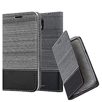 Cadorabo sleeve for WIKO VIEW GO - mobile case with stand function and compartment in the fabric design - case cover sleeve case bag book