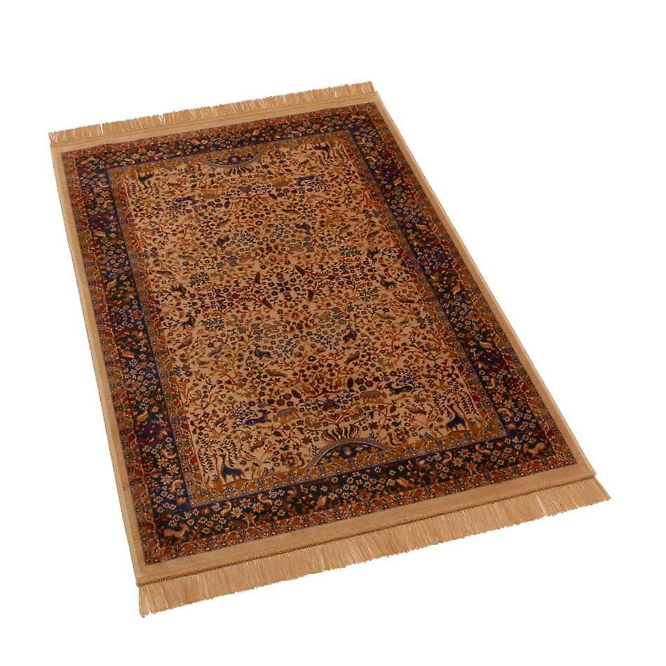 Persian Tree of Life Artificial Faux Silk Effect Rugs H262/4 100 x 140cm