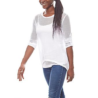 vivance collection long shirt with a T-Shirt in the layered look white