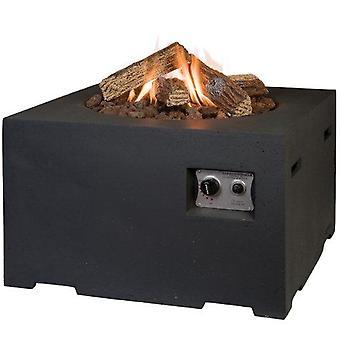 Happy Cocooning tuinhaard vierkant 76x76xH46 cm- zwart