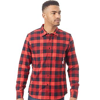 Oakley Red Line Icon Flanel Long Sleeved Shirt