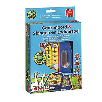 Jumbo Goose Snakes and Ladders reizen Edition-bordspel