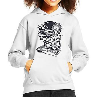 DJ Mad Scientist Kid's Hooded Sweatshirt