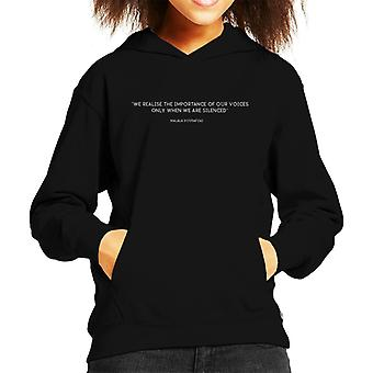 Strong Women Importance Of Our Voices Quote Kid's Hooded Sweatshirt