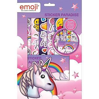 Emoji Unicorn Stings Paradise Stickers Reusable