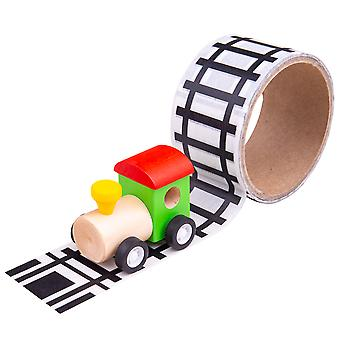 Bigjigs Toys Railway Track Sticker Tape - Removable Track Trains Vehicle