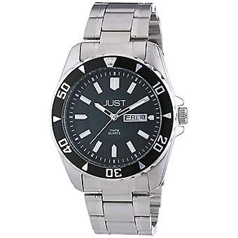 Just Watches-wristwatches, quartz analog, stainless steel, male