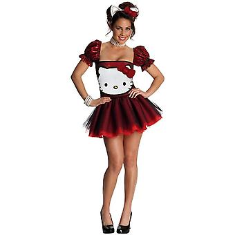 Red Hello Kitty Adult Costume