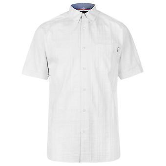 Pierre Cardin Mens Jacquard manica corta camicia Casual Top